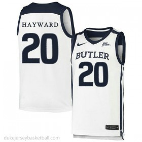 Gordon Hayward Butler Bulldogs #20 Authentic College Basketball Youth White Jersey
