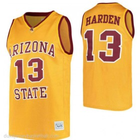 James Harden Arizona State Sun Devils #13 Authentic College Basketball Youth Gold Jersey