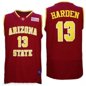 James Harden Arizona State Sun Devils #13 Authentic College Basketball Youth Red Jersey