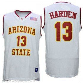 James Harden Arizona State Sun Devils #13 Authentic College Basketball Youth White Jersey