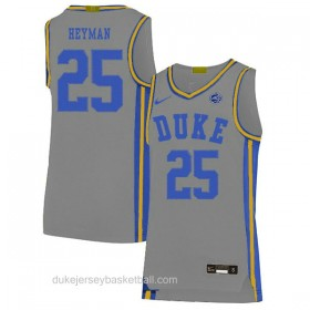 Mens Art Heyman Duke Blue Devils #25 Limited Grey Colleage Basketball Jersey