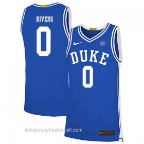Mens Austin Rivers Duke Blue Devils 0 Limited Blue Colleage Basketball Jersey