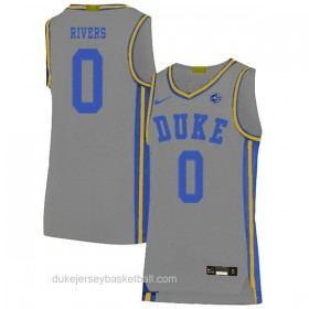 Mens Austin Rivers Duke Blue Devils 0 Limited Grey Colleage Basketball Jersey