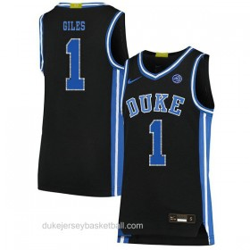 Mens Harry Giles Iii Duke Blue Devils #1 Swingman Black Colleage Basketball Jersey