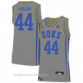 Mens Jeff Mullins Duke Blue Devils #44 Limited Grey Colleage Basketball Jersey