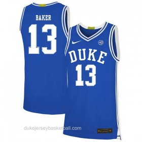 Mens Joey Baker Duke Blue Devils #13 Limited Blue Colleage Basketball Jersey