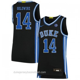 Mens Jordan Goldwire Duke Blue Devils #14 Swingman Black Colleage Basketball Jersey
