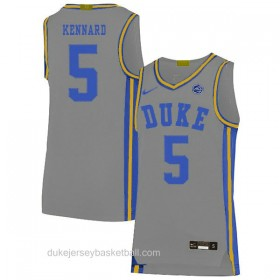 Mens Luke Kennard Duke Blue Devils #5 Swingman Grey Colleage Basketball Jersey