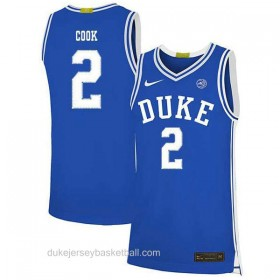 Mens Quinn Cook Duke Blue Devils #2 Limited Blue Colleage Basketball Jersey