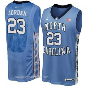 Michael Jordan North Carolina Tar Heels #23 Authentic College Basketball Womens Unc Blue Jersey
