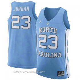 Michael Jordan North Carolina Tar Heels #23 Authentic College Basketball Womens Unc Jersey Light Blue