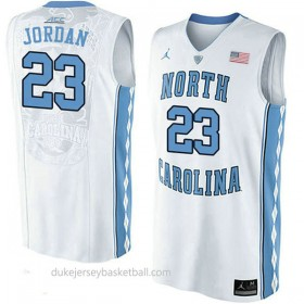 Michael Jordan North Carolina Tar Heels #23 Authentic College Basketball Womens Unc Jersey White