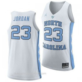 Michael Jordan North Carolina Tar Heels #23 Authentic College Basketball Womens Unc White Jersey