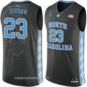 Michael Jordan North Carolina Tar Heels #23 Authentic College Basketball Youth Unc Black Jersey