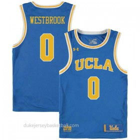 Russell Westbrook Ucla Bruins 0 Authentic College Basketball Youth Blue Jersey