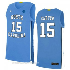 Vince Carter North Carolina Tar Heels #15 Authentic College Basketball Womens White Jersey