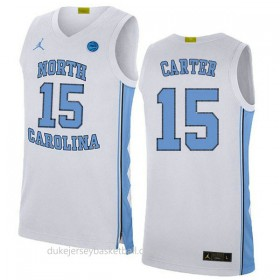 Vince Carter North Carolina Tar Heels #15 Authentic College Basketball Youth Blue Jersey