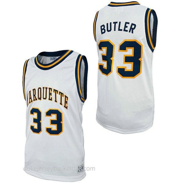 Jimmy Butler Retro Marquette #33 Limited College Basketball Youth White Jersey