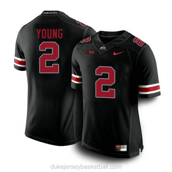 Mens Chase Young Ohio State Buckeyes #2 Game Blackout College Football C012 Jersey