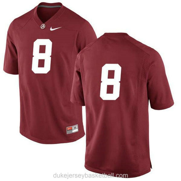Mens Josh Jacobs Alabama Crimson Tide #8 Limited Red College Football C012 Jersey No Name