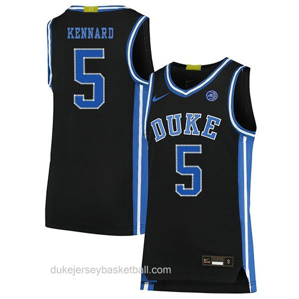 Mens Luke Kennard Duke Blue Devils #5 Swingman Black Colleage Basketball Jersey