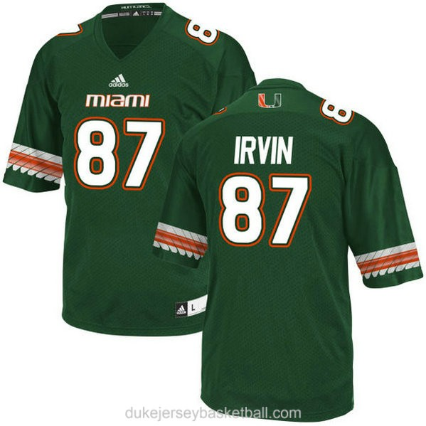Mens Michael Irvin Miami Hurricanes #47 Limited Green College Football Adidas C012 Jersey