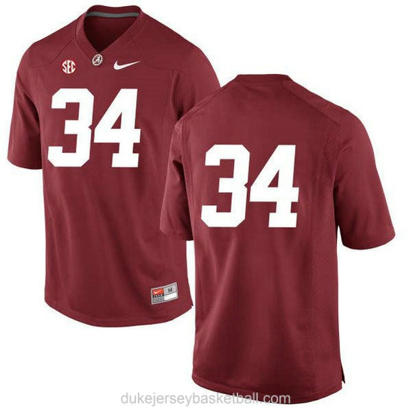 Womens Damien Harris Alabama Crimson Tide #34 Limited Red College Football C012 Jersey No Name