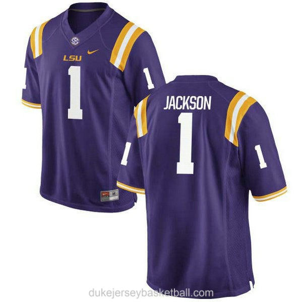 Womens Donte Jackson Lsu Tigers #1 Limited Purple College Football C012 Jersey