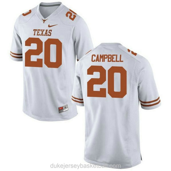 Womens Earl Campbell Texas Longhorns #20 Game White College Football C012 Jersey