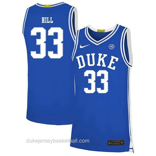 Womens Grant Hill Duke Blue Devils #33 Swingman Blue Colleage Basketball Jersey
