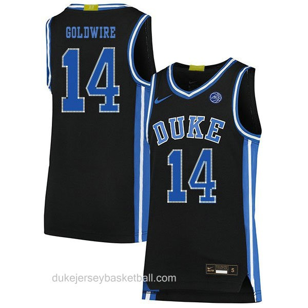 Womens Jordan Goldwire Duke Blue Devils #14 Swingman Black Colleage Basketball Jersey