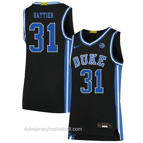 Womens Shane Battier Duke Blue Devils #31 Authentic Black Colleage Basketball Jersey
