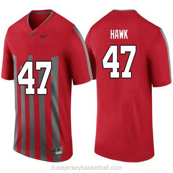 Youth Aj Hawk Ohio State Buckeyes #47 Throwback Limited Red College Football C012 Jersey