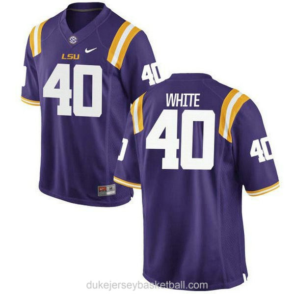 Youth Devin White Lsu Tigers #40 Authentic Purple College Football C012 Jersey