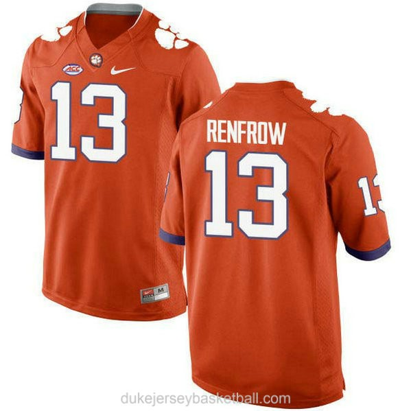 Youth Hunter Renfrow Clemson Tigers #13 New Style Limited Orange College Football C012 Jersey