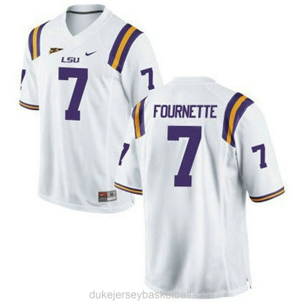 Youth Leonard Fournette Lsu Tigers #7 Limited White College Football C012 Jersey