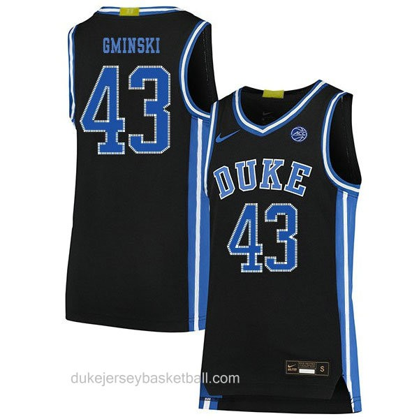 Youth Mike Gminski Duke Blue Devils #43 Limited Black Colleage Basketball Jersey