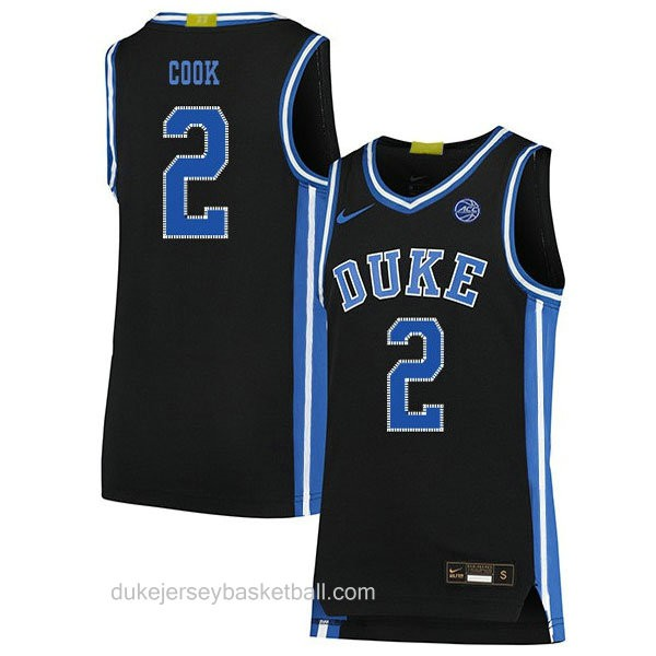 Youth Quinn Cook Duke Blue Devils #2 Authentic Black Colleage Basketball Jersey