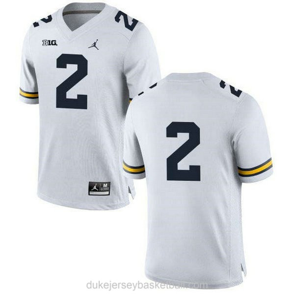Youth Shea Patterson Michigan Wolverines #2 Limited White College Football C012 Jersey No Name