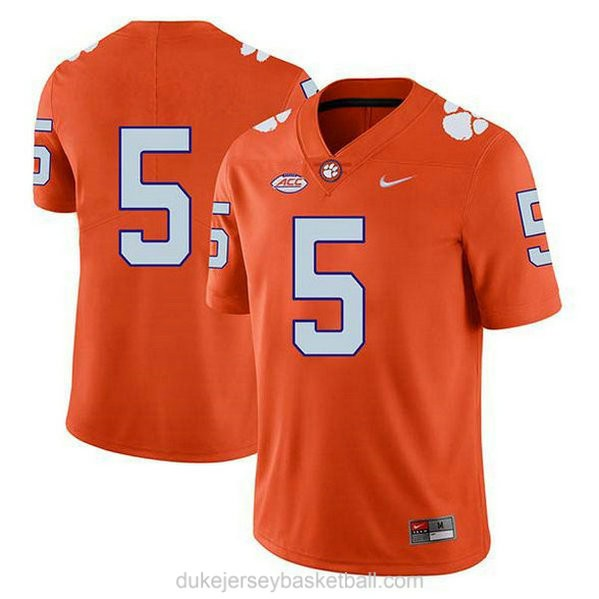Youth Tee Higgins Clemson Tigers #5 Game Orange College Football C012 Jersey No Name