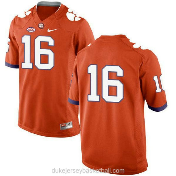 Youth Trevor Lawrence Clemson Tigers #16 New Style Limited Orange College Football C012 Jersey No Name